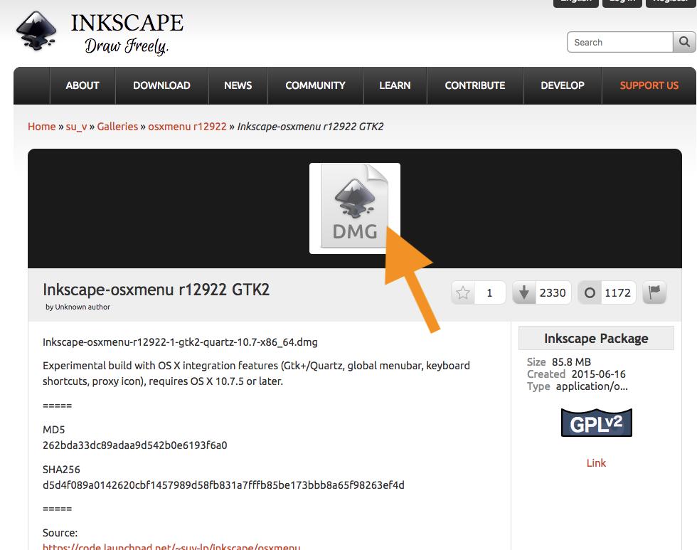 MacでXQuartz無しのInkscapeを使う | たくのこ Web
