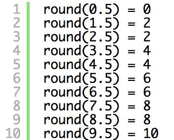 Python2系と3系の四捨五入round()の動作の違い